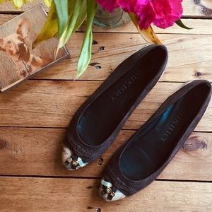 Burberry Haymarket Yates Ballerina Flats (9.5)
